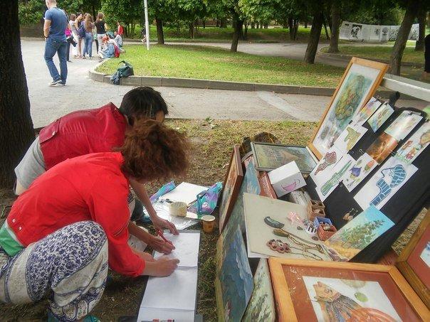 У Парку культури провели майстер-клас із живопису (ФОТО), фото-5