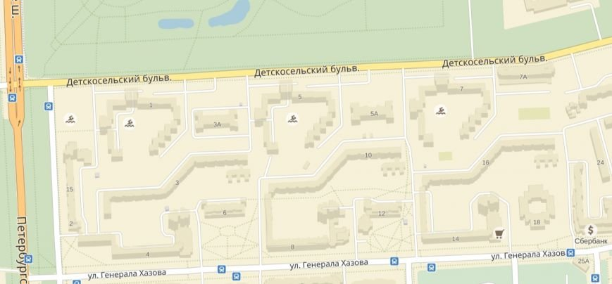 бассейны на яндекс-карте