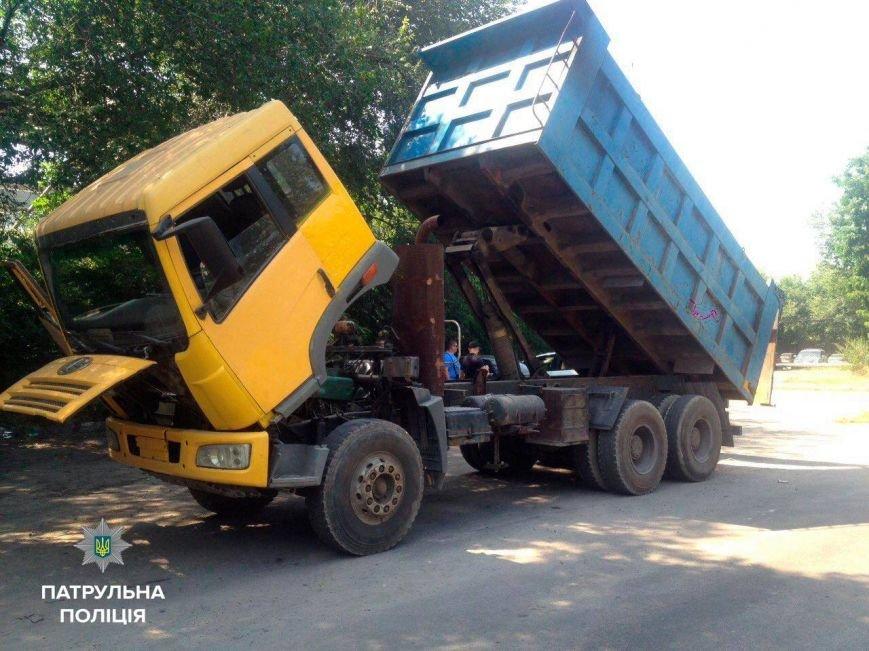В Запорожье обнаружили краденый самосвал, фото-1