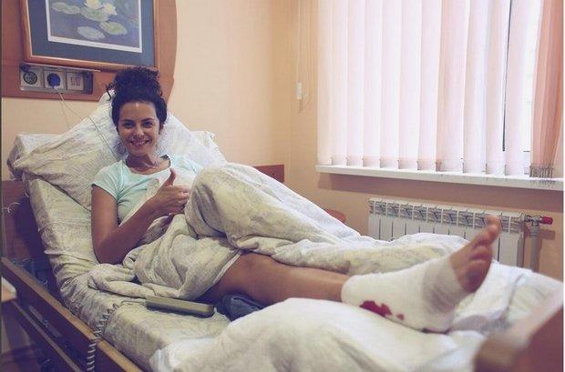 Після стрибка з парашутом Каменських потрапила на операціний стіл (ФОТО), фото-2