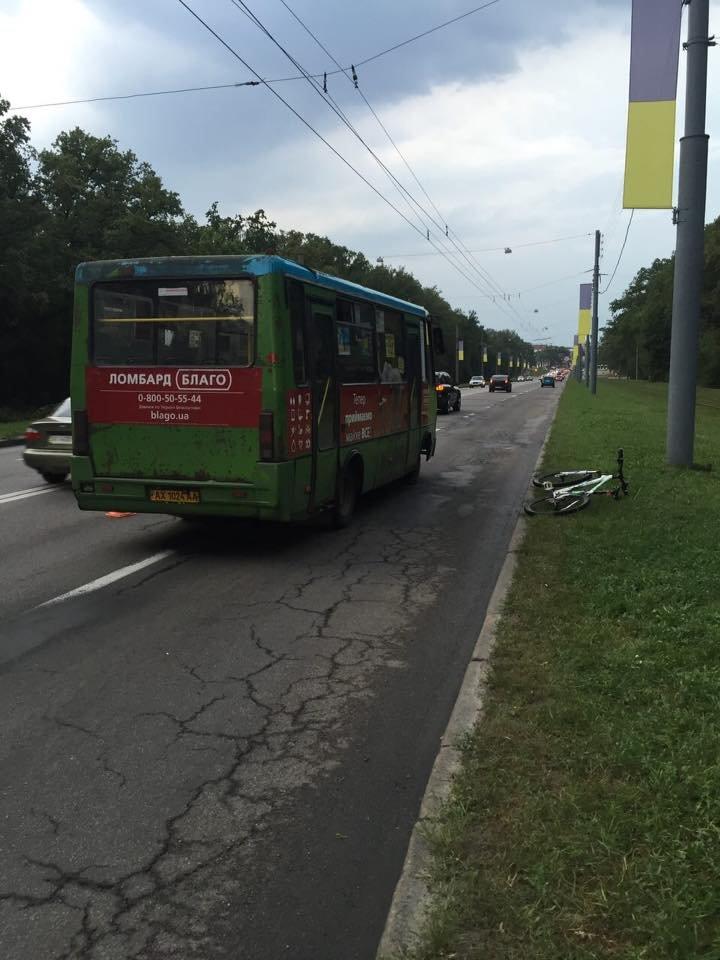 В Харькове автобус сбил велосипедиста (ФОТО), фото-1