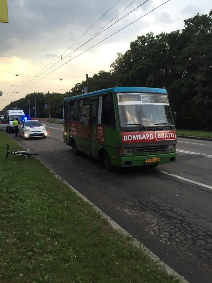 В Харькове автобус сбил велосипедиста (ФОТО), фото-2