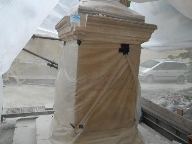 У центрі Львова відновлюють колону Святого Христофора (ФОТО), фото-5
