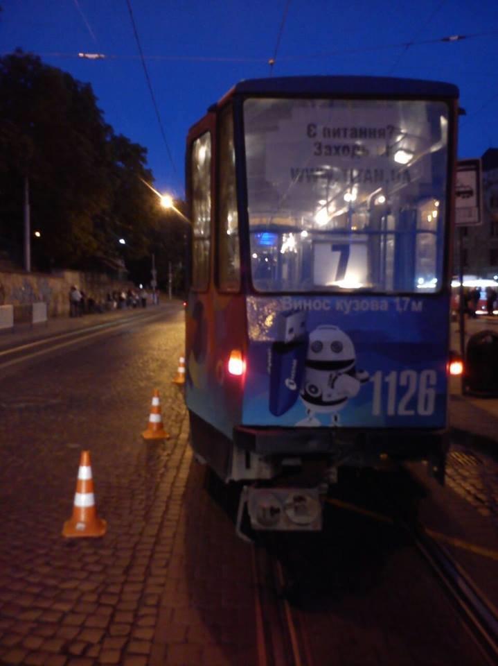 У центрі Львова трамвай збив п'яного пішохода (ФОТО), фото-1