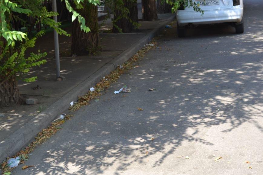 Любимый проспект криворожан утром выходного дня утопает в мусоре (ФОТО), фото-12
