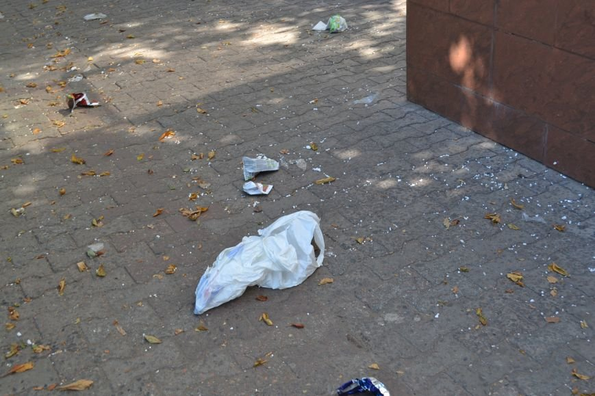Любимый проспект криворожан утром выходного дня утопает в мусоре (ФОТО), фото-3