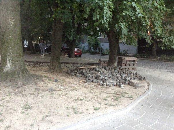 На вулиці Японській розпочали облаштовувати громадський простір (ФОТО), фото-1