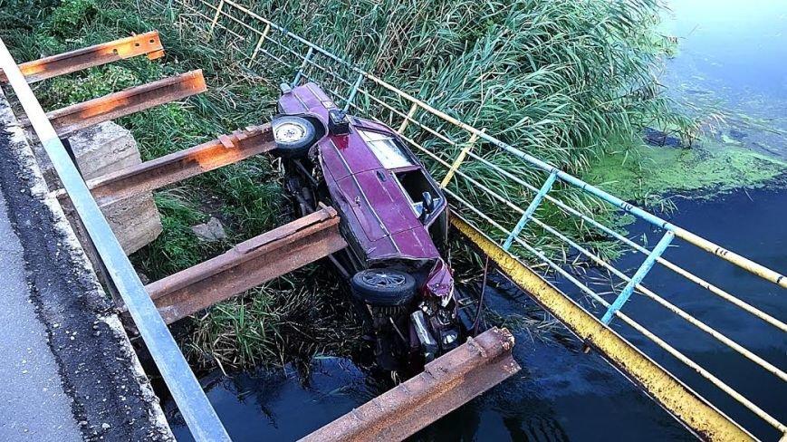 В Мариуполе ВАЗ с моста улетел в реку(ФОТО), фото-5