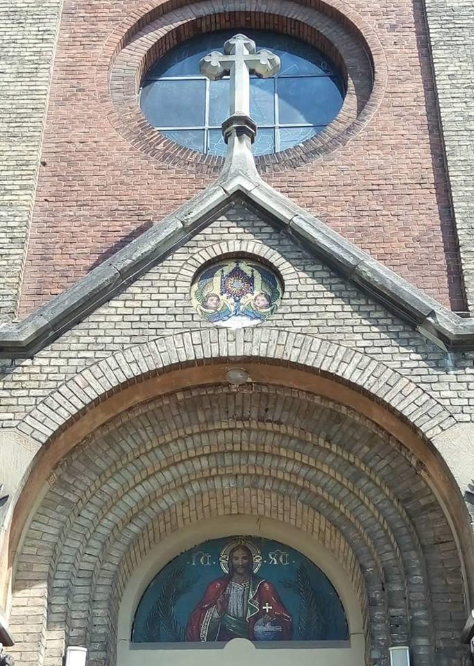 У Львові на фасаді храму святого Іоана Золотоустого відреставрували старовинну мозаїку (ФОТО), фото-1