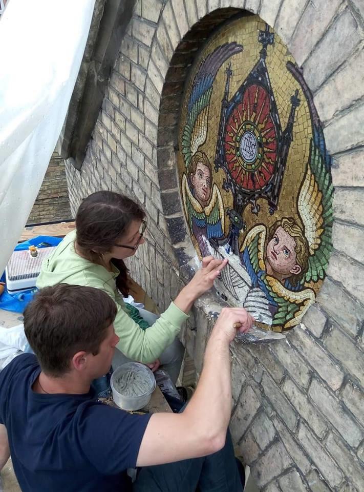 У Львові на фасаді храму святого Іоана Золотоустого відреставрували старовинну мозаїку (ФОТО), фото-2