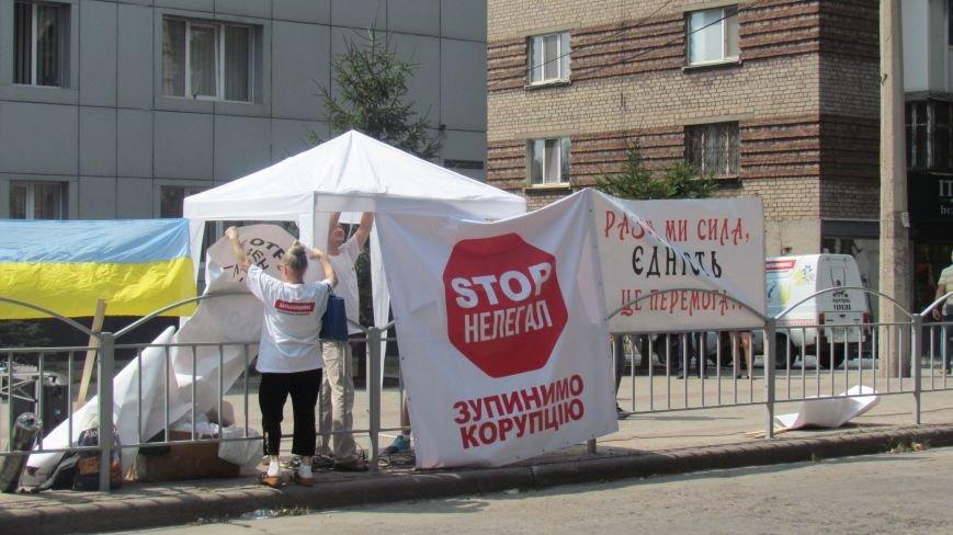 Мариупольские активисты установили палатки под прокуратурой (ФОТО+ВИДЕО), фото-6
