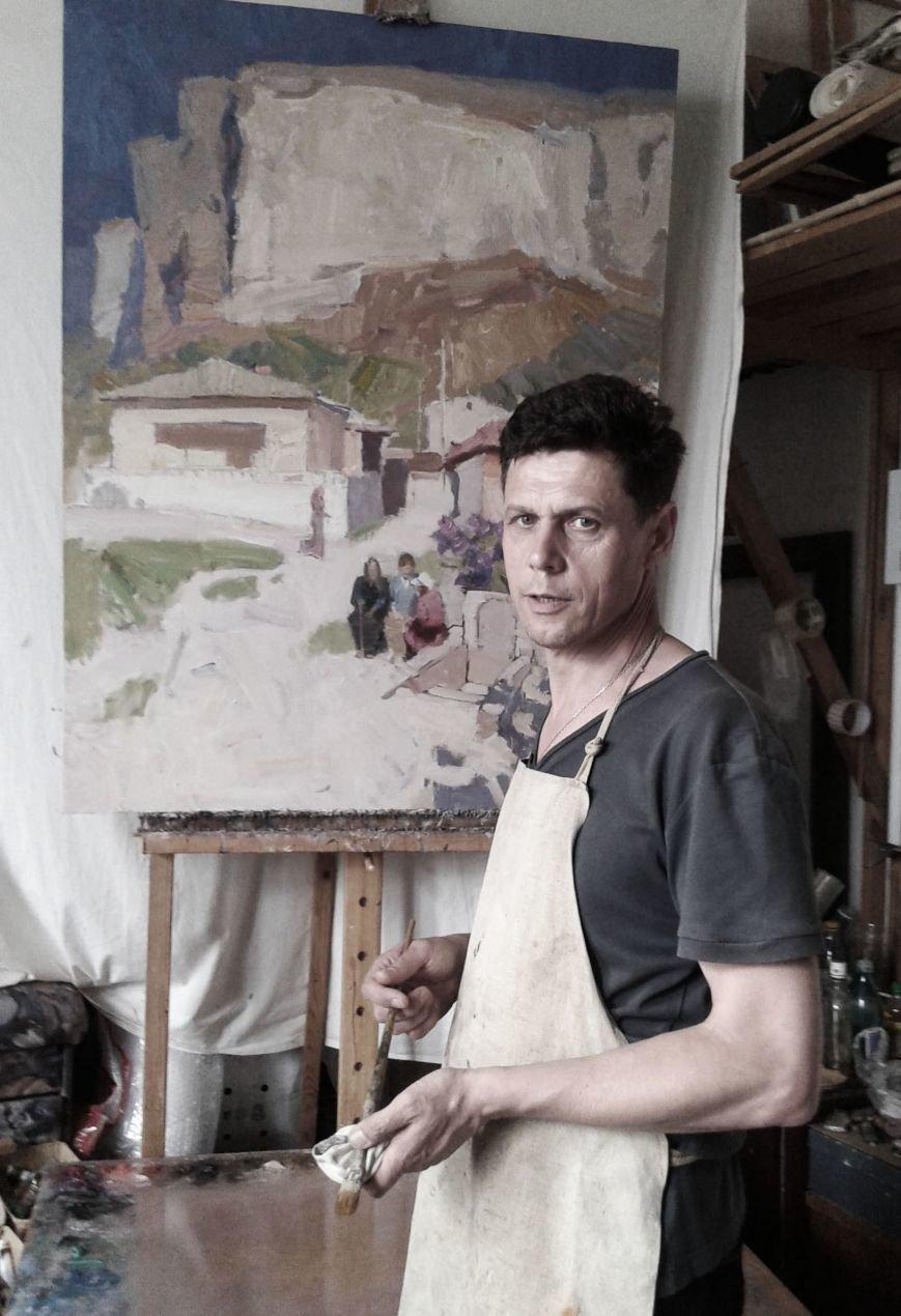 художник в мастерской