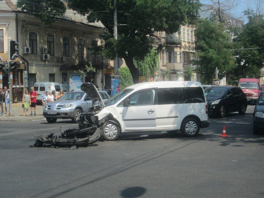 Центр Одессы застыл в пробке из-за аварии на Екатерининской (ФОТО), фото-3