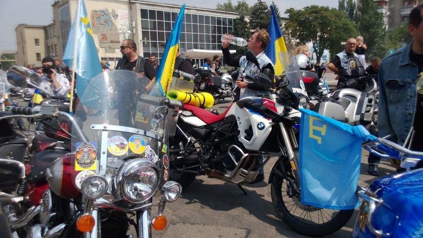 Мотопробег байкеров прошел через Мелитополь (фото), фото-1