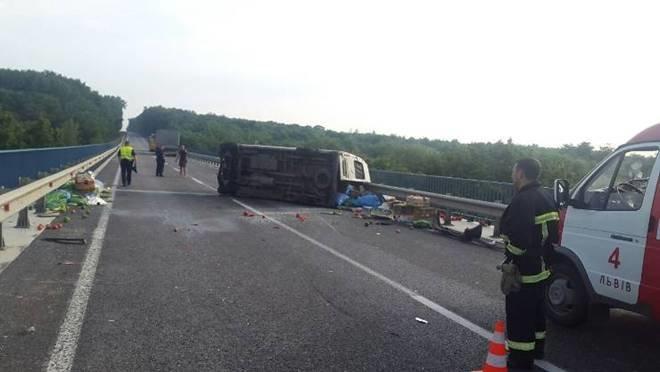 На трасі Київ-Чоп зіштовхнувся мікроавтобус із вантажівкою: є загиблий (ФОТО), фото-2