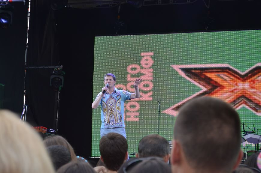 "Сотни запорожцев собрались посмотреть концерт участников ""Х-фактора"" (ФОТО), фото-1"