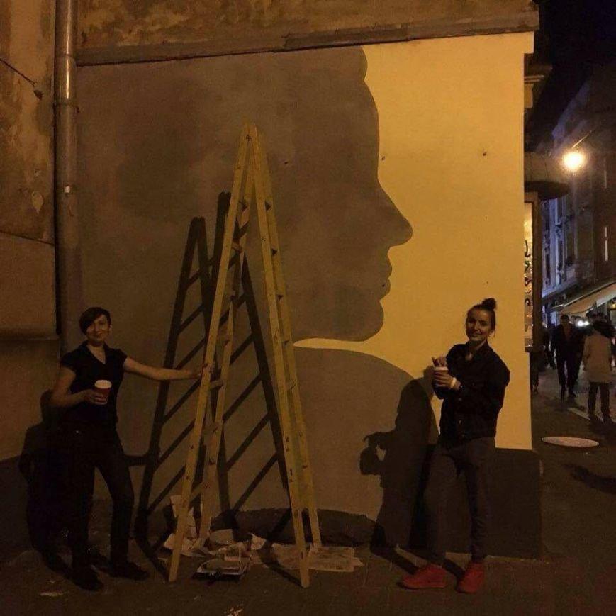 У Львові три сестри розписали одну із стін на вул. Краківській віршем Симоненка (ФОТО), фото-2