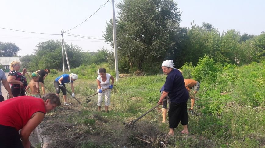 В селе Светлом местные жители сами подготовили место для детской площадки, фото-1