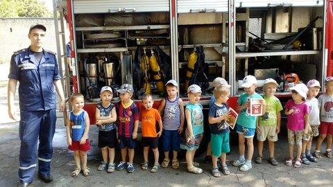 В Краматорске пожарные встретились с детьми, фото-1