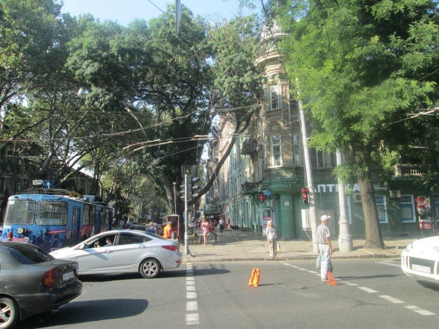 В центре Одессы не курсируют троллейбусы (ФОТО), фото-3