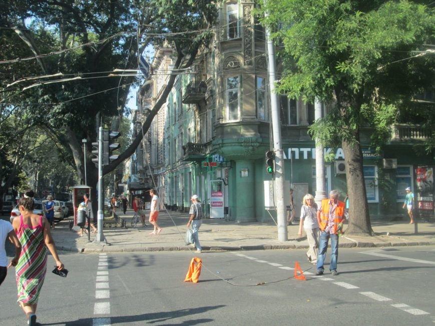 В центре Одессы не курсируют троллейбусы (ФОТО), фото-5