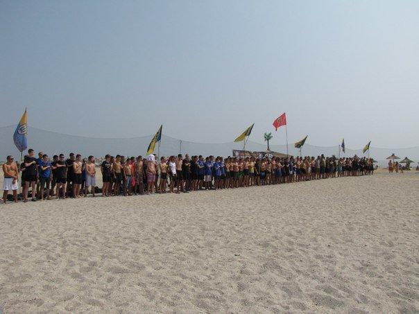 В память о погибшем бойце полка «Азов» из Бердянска его побратимы провели турнир по пляжному футболу, фото-2