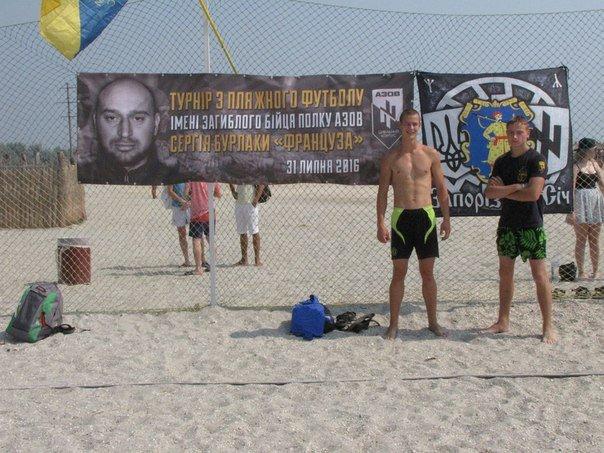 В память о погибшем бойце полка «Азов» из Бердянска его побратимы провели турнир по пляжному футболу, фото-1