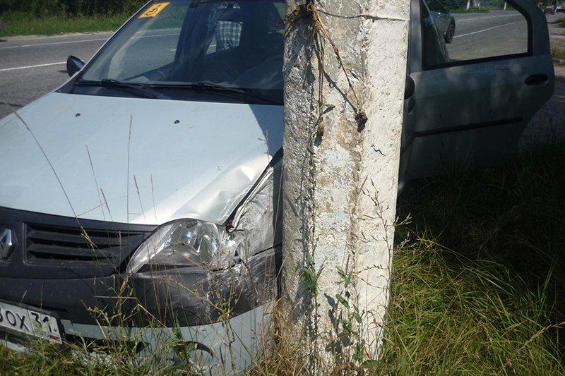 Под Белгородом водитель «Нивы» протаранил «Рено», фото-1