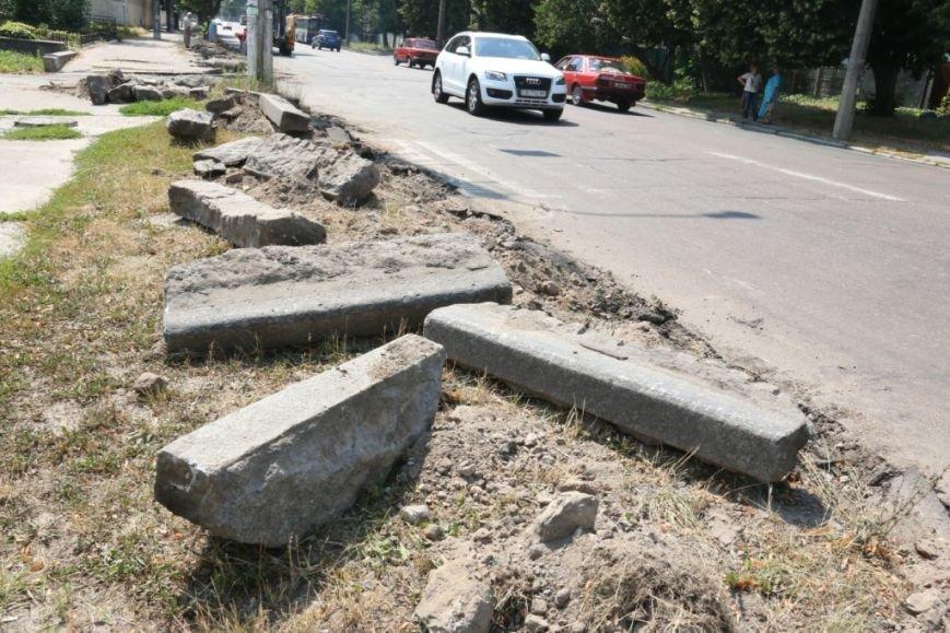 Гранитные бордюры с улицы Шевченко вернут на место, фото-10