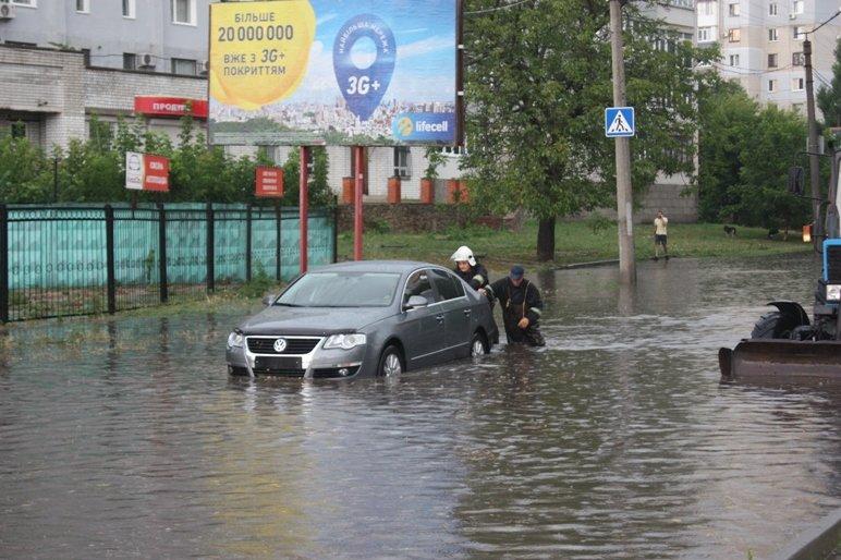 В Кропивницком из воды вытягивали маршрутку (ФОТО), фото-4
