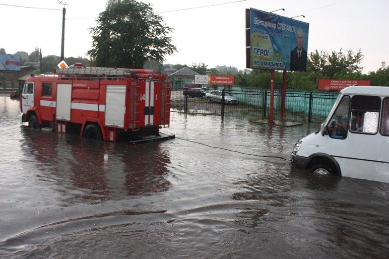 В Кропивницком из воды вытягивали маршрутку (ФОТО), фото-3