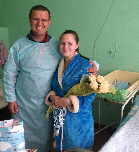 Семья Водяницких с новорожденным Дмитрием