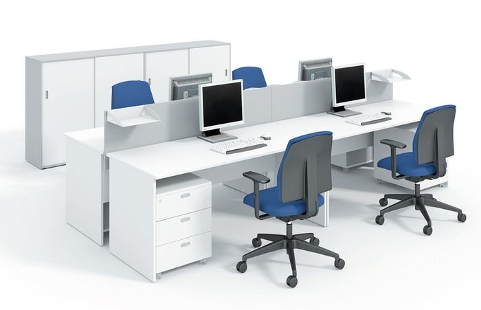 Белая офисная мебель люкс-класса
