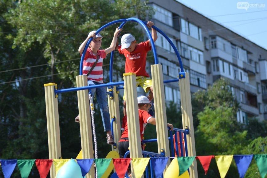 На Левобережье Каменского открылась детская площадка, фото-1
