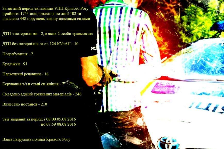 Выходные в Кривбассе: 91 кража, 2 грабежа, 7 пьяных водителей, фото-1