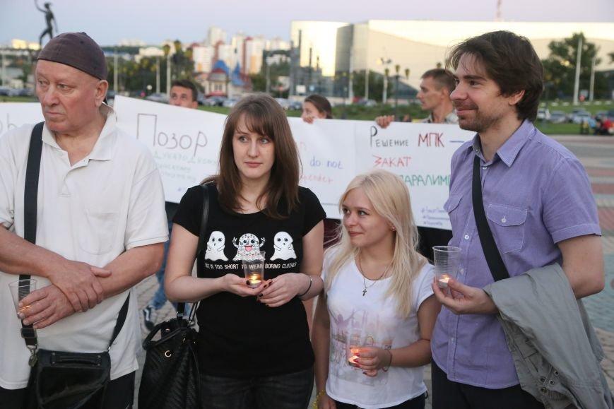Белгородские паралимпийцы вышли на акцию в поддержку отстранённых спортсменов. Фоторепортаж, фото-6