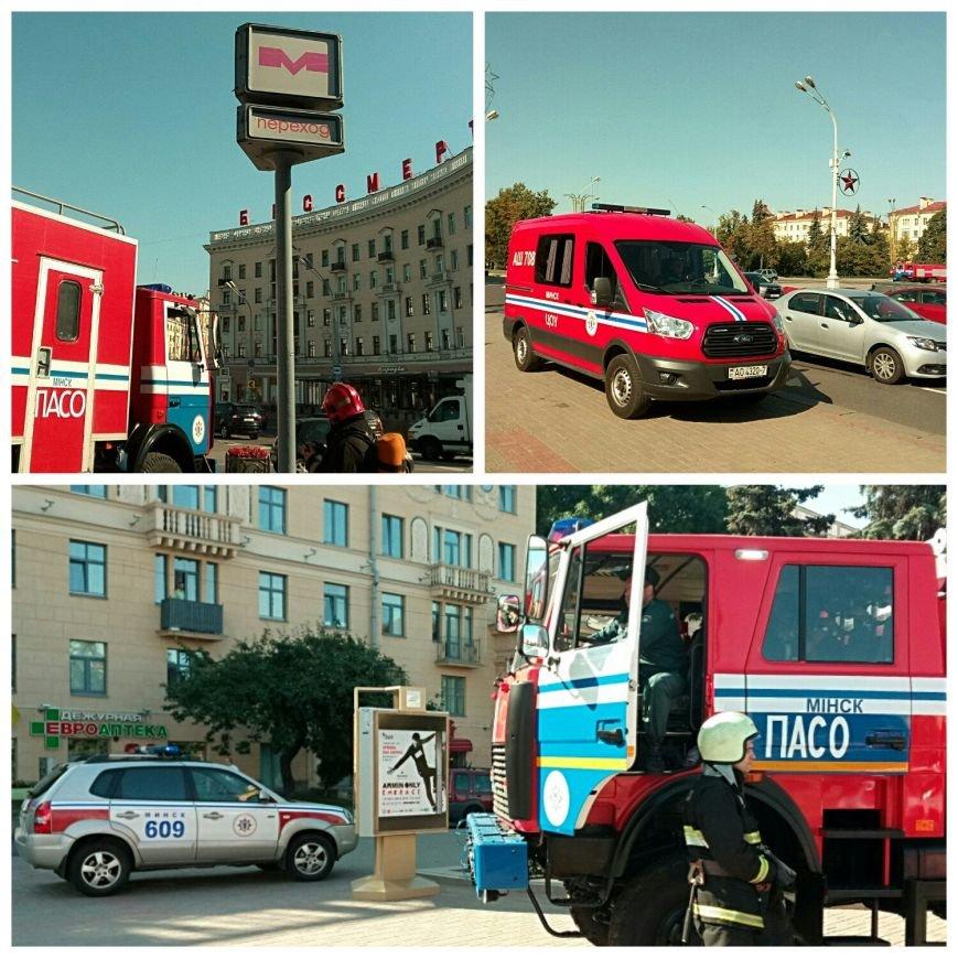 МЧС: на станции метро «Площадь Победы» в Минске оплавилась изоляция кондиционера. Фото, фото-1