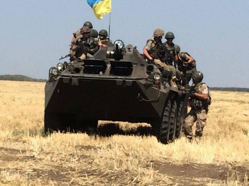 Под Мариуполем  пограничники провели учения на новых БТРах (ФОТО, ВИДЕО), фото-1