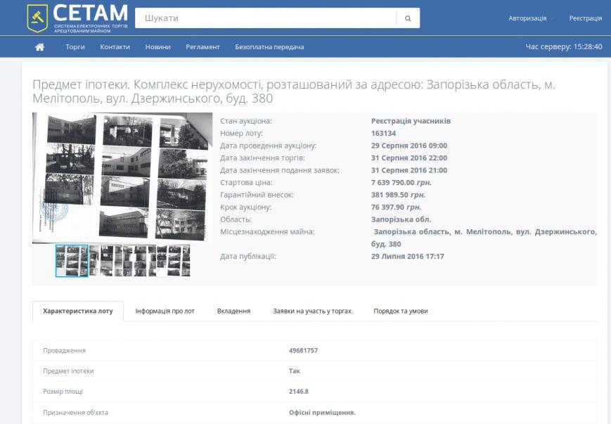 В Мелитополе за 7,5 миллионов продают с молотка здание института экологии, фото-1