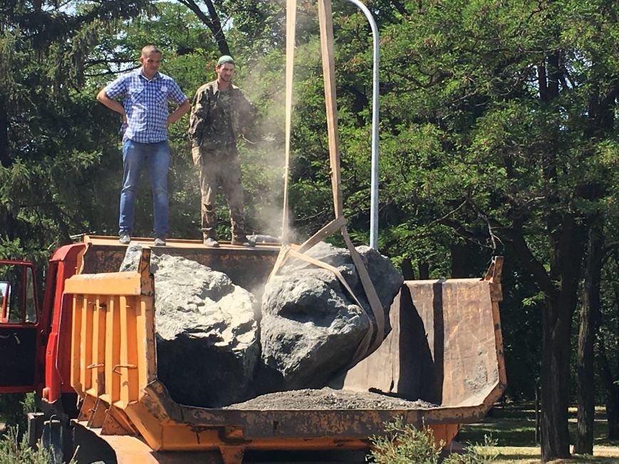 В парке Героев Кривого Рога заложили первые камни для памятника Козаку Мамаю (ФОТО), фото-5