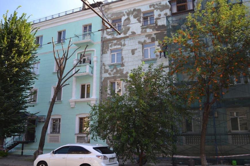 В Каменском начали ремонтировать фасад здания на проспекте Шевченко, фото-1