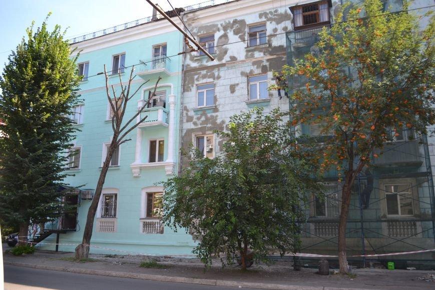 В Каменском начали ремонтировать фасад здания на проспекте Шевченко, фото-3