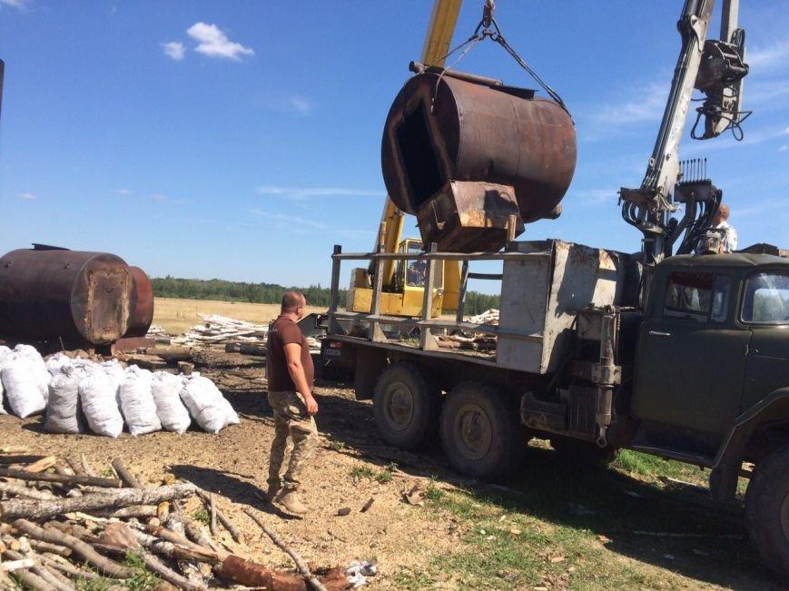 В Ємільчинському районі демонтували незаконні бочки для випалювання деревного вугілля, фото-1