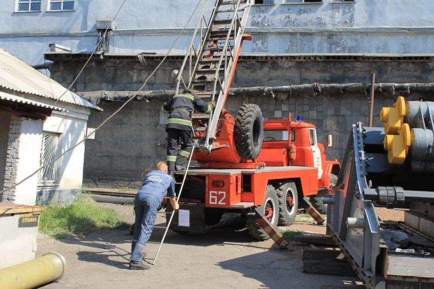 """""""Тяжело в учении - легко в бою"""" - пожарные учения на добропольской ЦОФ, фото-3"""