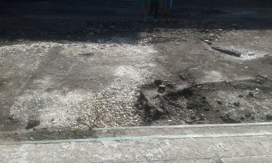 В Авдеевке начались работы по реконструкции пришкольной территории (ФОТО), фото-3