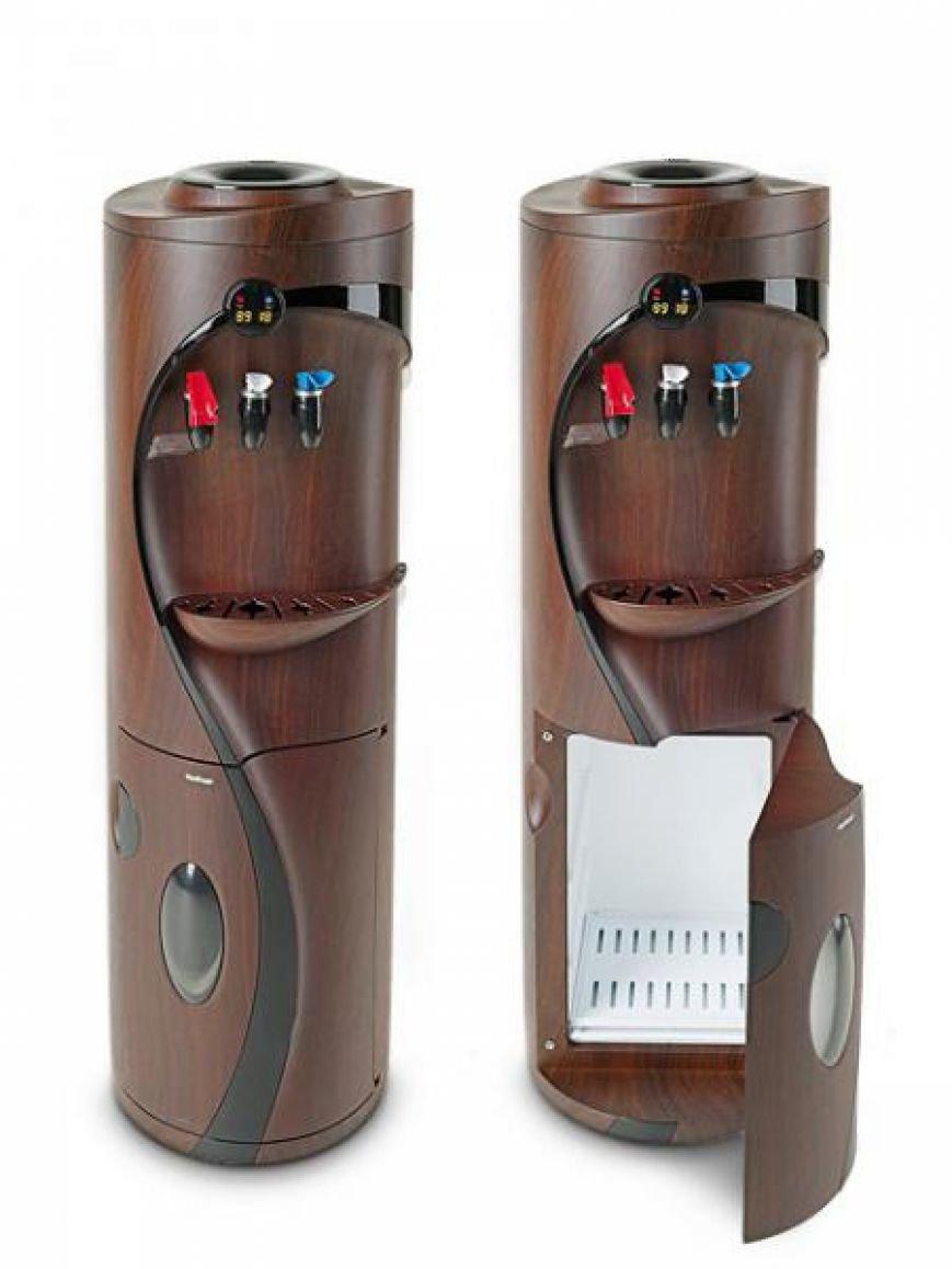 Кулер для воды со шкафом-холодильником и дисплеем