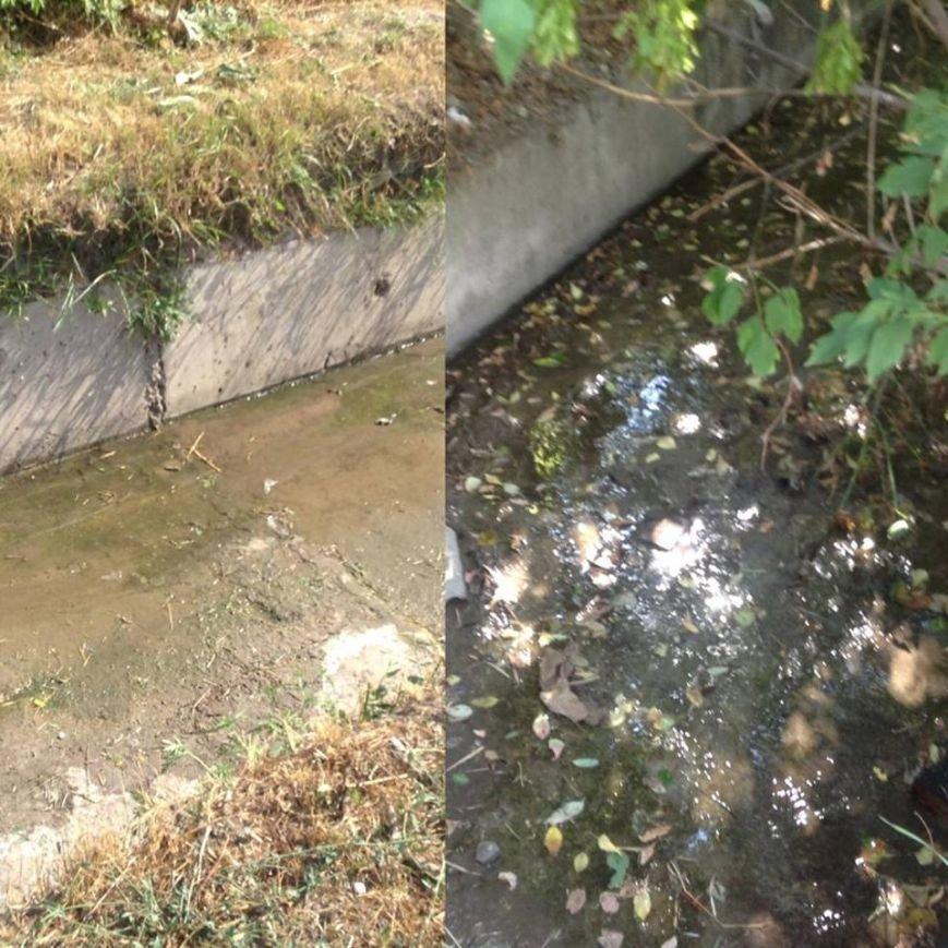 Мариупольцы сегодня увидели две стороны прочистки  одной ливневки (ФОТО), фото-1