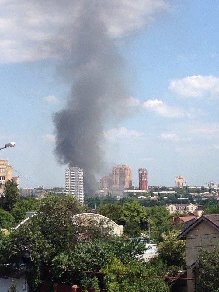 В Донецке горит офис «ИСД», - соцсети ФОТО, фото-2