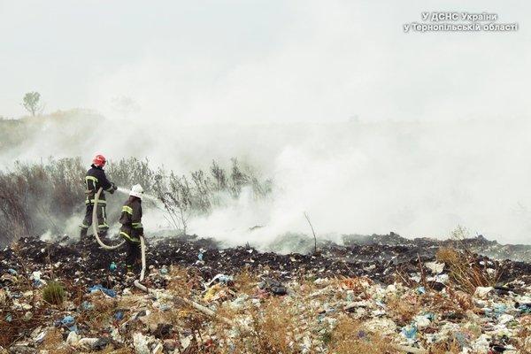 На свалке возле Тернополя произошел пожар