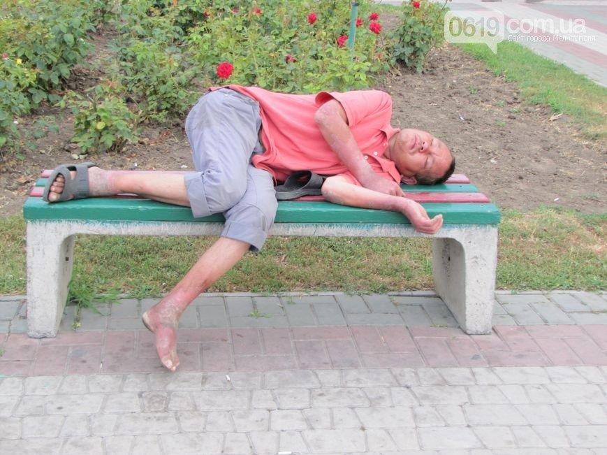 Новые лавочки стали ночлежкой для бездомных, фото-6